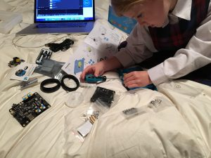 Libby Putting Together mBot